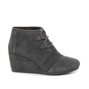 Kala Suede Lace Up Wedge Bootie - Toms